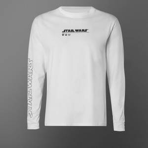 T-shirt à manches longues Star Wars May The Force Be With You - Blanc - Unisexe