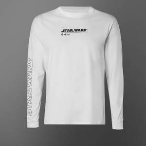 Star Wars May The Force Be With You Long Sleeve Unisex T-Shirt - White
