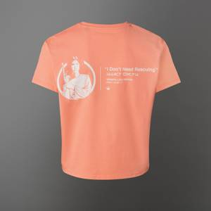 Star Wars Princess Leia Women's Cropped T-Shirt - Coral