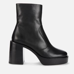 Simon Miller Women's Low Raid Leather Platform Boots - Black