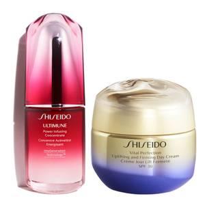 Shiseido Vital Perfection Uplifting Day Cream and Ultimune 30ml Bundle