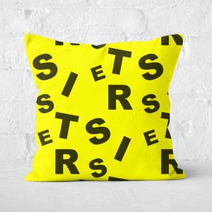 Sister Pattern Square Cushion