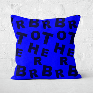 Brother Pattern Square Cushion