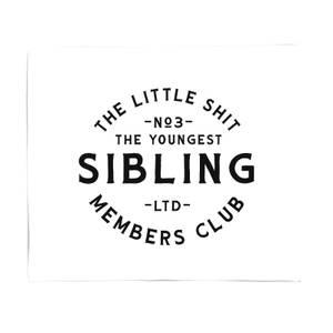 The Youngest Sibling Little Shit Fleece Blanket