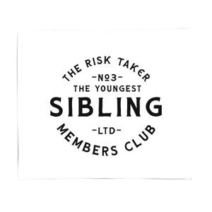 The Youngest Sibling The Risk Taker Fleece Blanket