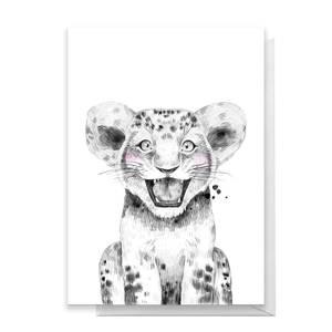 Lion Cub Greetings Card