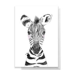 Zebra Greetings Card