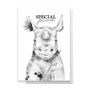 Special Friend Rhino Greetings Card