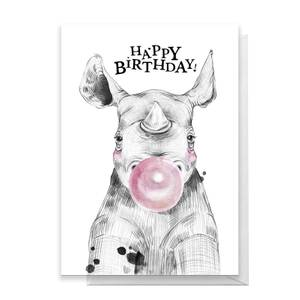Happy Birthday Rhino Greetings Card
