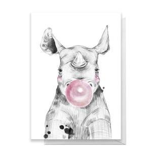 Rhino Greetings Card