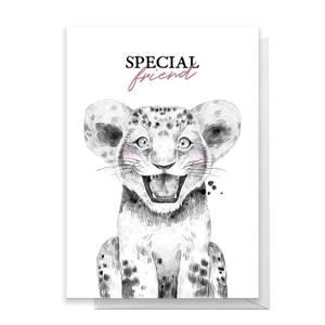 Special Friend Lion Cub Greetings Card