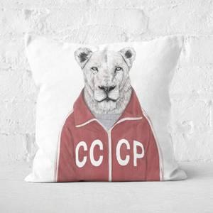 Soviet Lion Cushion Square Cushion