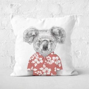 Summer Koala Red Cushion Square Cushion