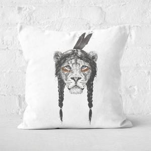 Warrior Lion Cushion Square Cushion