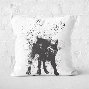 Wet Dog Cushion Square Cushion