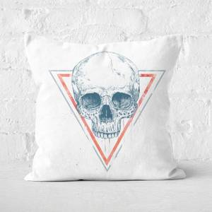Skull In Triangles Cushion Square Cushion
