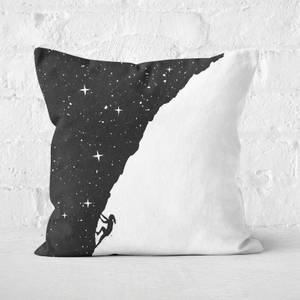Night Climbing Black & White Cushion Square Cushion