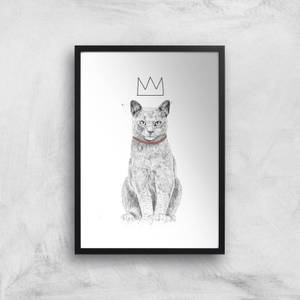 King Of Everything Black & White Giclee Art Print