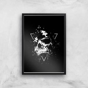 Skull Black & White Print Giclee Art Print