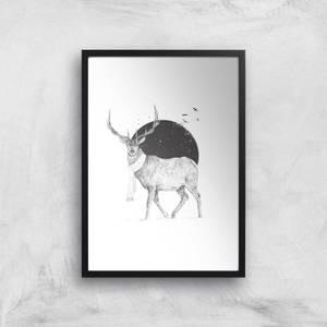 Winter Is All Around Black & White Print Giclee Art Print