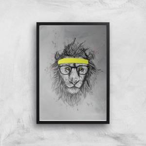 Hipster Lion Giclee Art Print