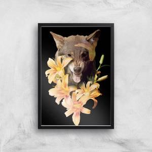 Wolfish Flowers Giclee Art Print
