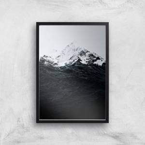 Those Waves Were Like Mountains Giclee Art Print