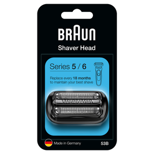 Series 5 53B Electric Shaver Head Replacement, Black