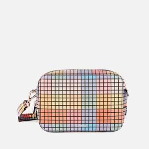 Ganni Women's Check Print Leather Cross Body Bag - Multicolour