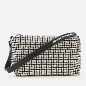 Alexander Wang Women's Wangloc Medium Crystal Pouch Crystal - White