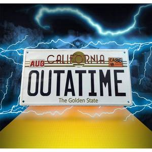 Back to the Future Embossed Metal Sign
