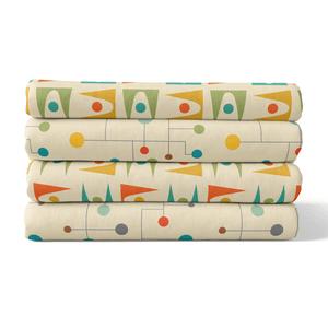 Retro 4 Pack Fabric Squares Bundle
