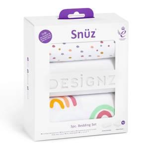 Snüz Crib Bedding Set - Colour Rainbow (3 Piece Set)