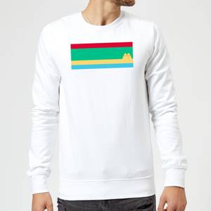 Pusheen Stripe Chest Print Sweatshirt - White