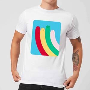 Pusheen Half Rainbow Men's T-Shirt - White