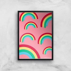 Pusheen Multi Rainbow Giclee Art Print