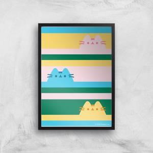 Pusheen Trio Stripes Giclee Art Print