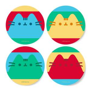 Pusheen Stripe Coaster Set