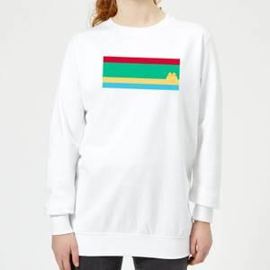 Pusheen Stripe Women's Sweatshirt - White