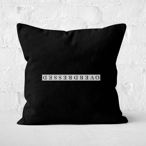 Overdressed White Square Cushion