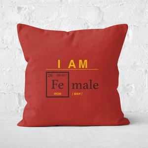 I Am Fe Male Square Cushion