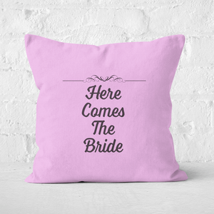 Here Comes The Bride Square Cushion