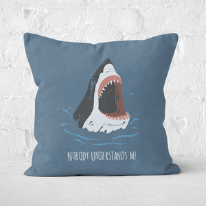 Sharks Nobody Understands Me Square Cushion