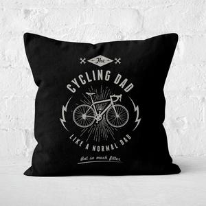 Cycling Dad Square Cushion