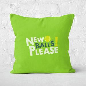 New Balls Please Square Cushion
