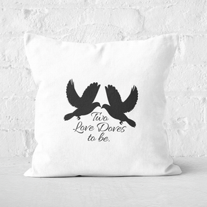 Two Love Doves To Be Square Cushion
