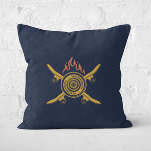 Skateboards On Fire Square Cushion