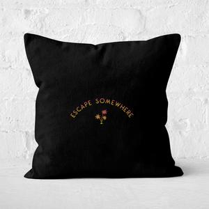 Escape Somewhere Square Cushion