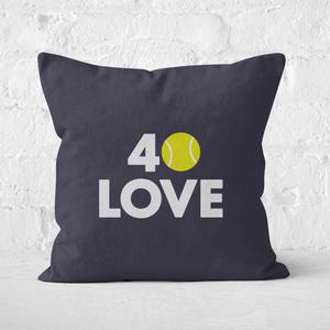 40 Love Square Cushion