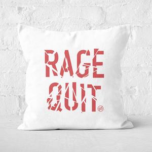 Rage Quit Square Cushion